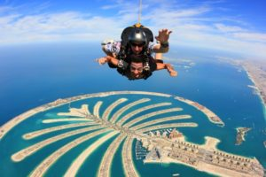 skydiving in dubai