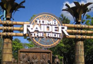Tomb Raider movie amusement park.