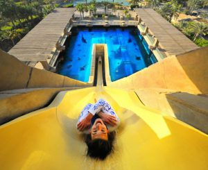 Leap of Faith - Aquaventure waterpark's most popular attraction.