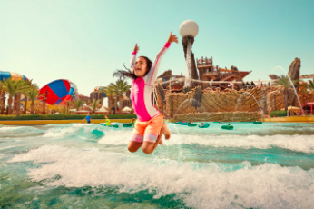 Amwaj is one of the family activity in Yas Waterworld