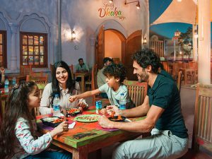 Dining in Bollywood Parks Dubai