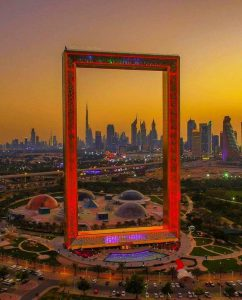 Dubai Frame is one of the best Instagrammable Places Dubai