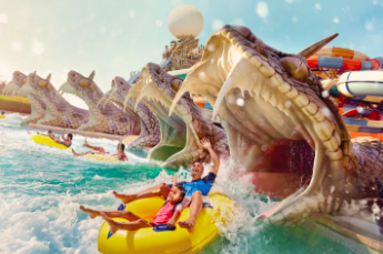 Slithers Slides is one of the thrill activities at Yas Waterworld