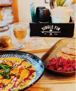 Single Fin Café is one of the best vegan restaurants in Dubai