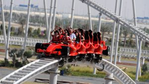 Formula Rossa is the fastest rollercoaster in Ferrari world Abu Dhabi.