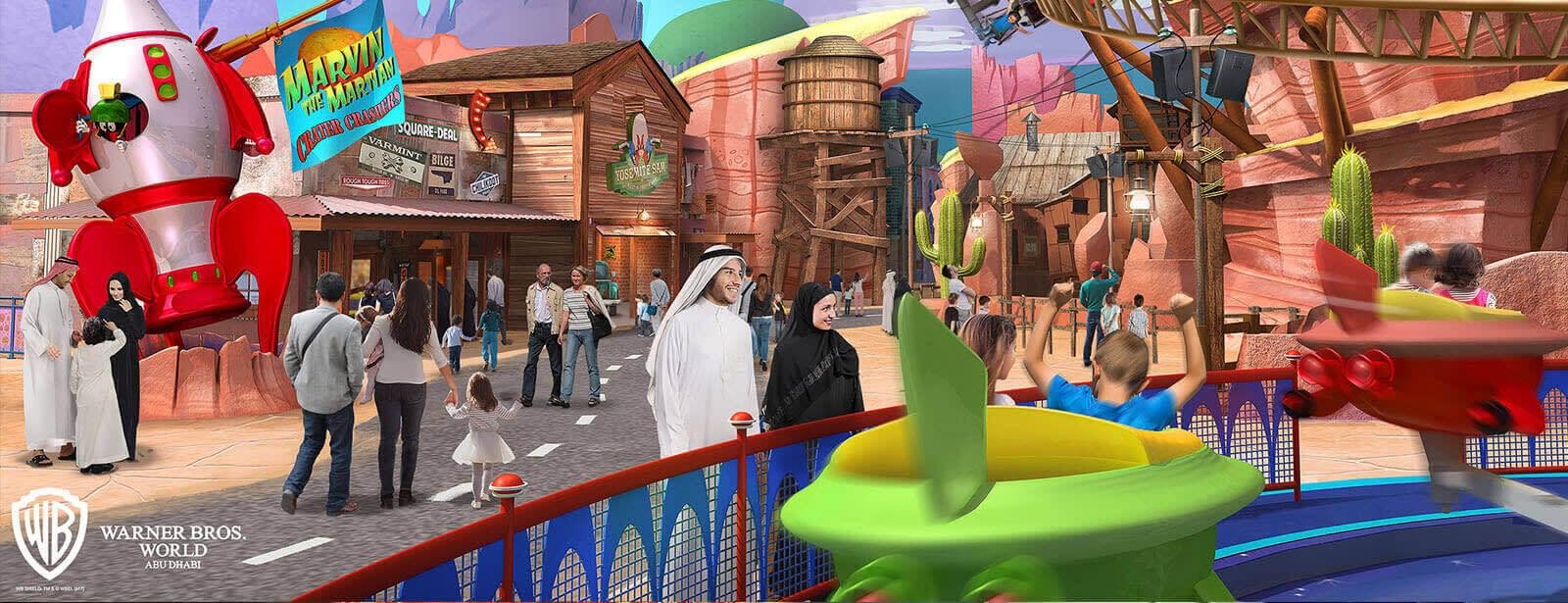 Warner Bros World Abu Dhabi will become your favorite nostalgic hit