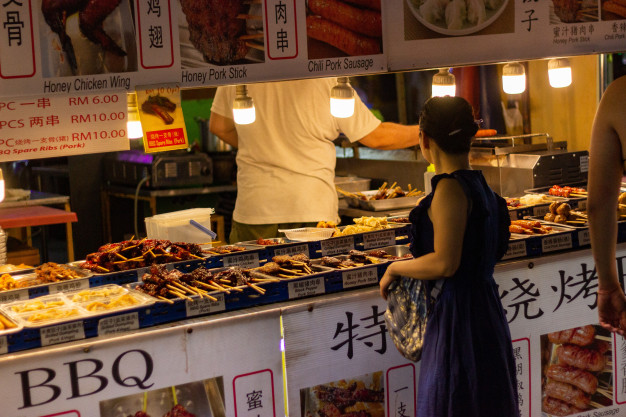 malaysia restaurants and shopping